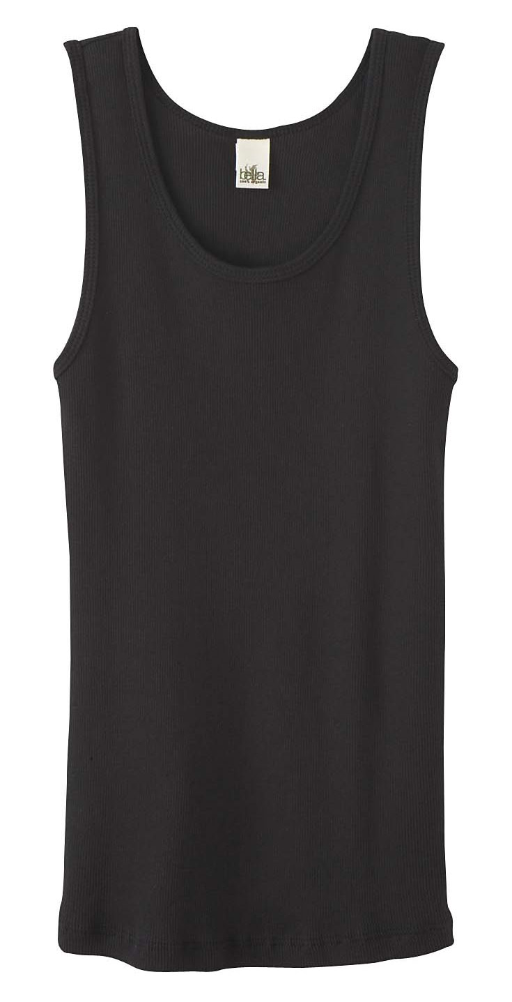 Bella 100% Organic Cotton Ladies 2 X 1 Rib Tank Top