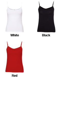 Bella Ladies Cotton/Spandex Camisole - All Colors