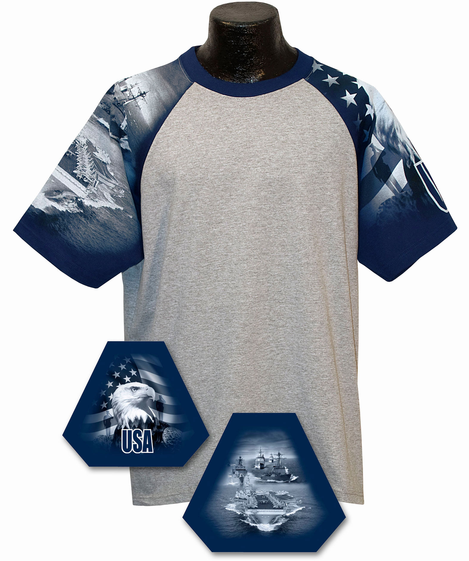 Adult Navy Design Tshirt