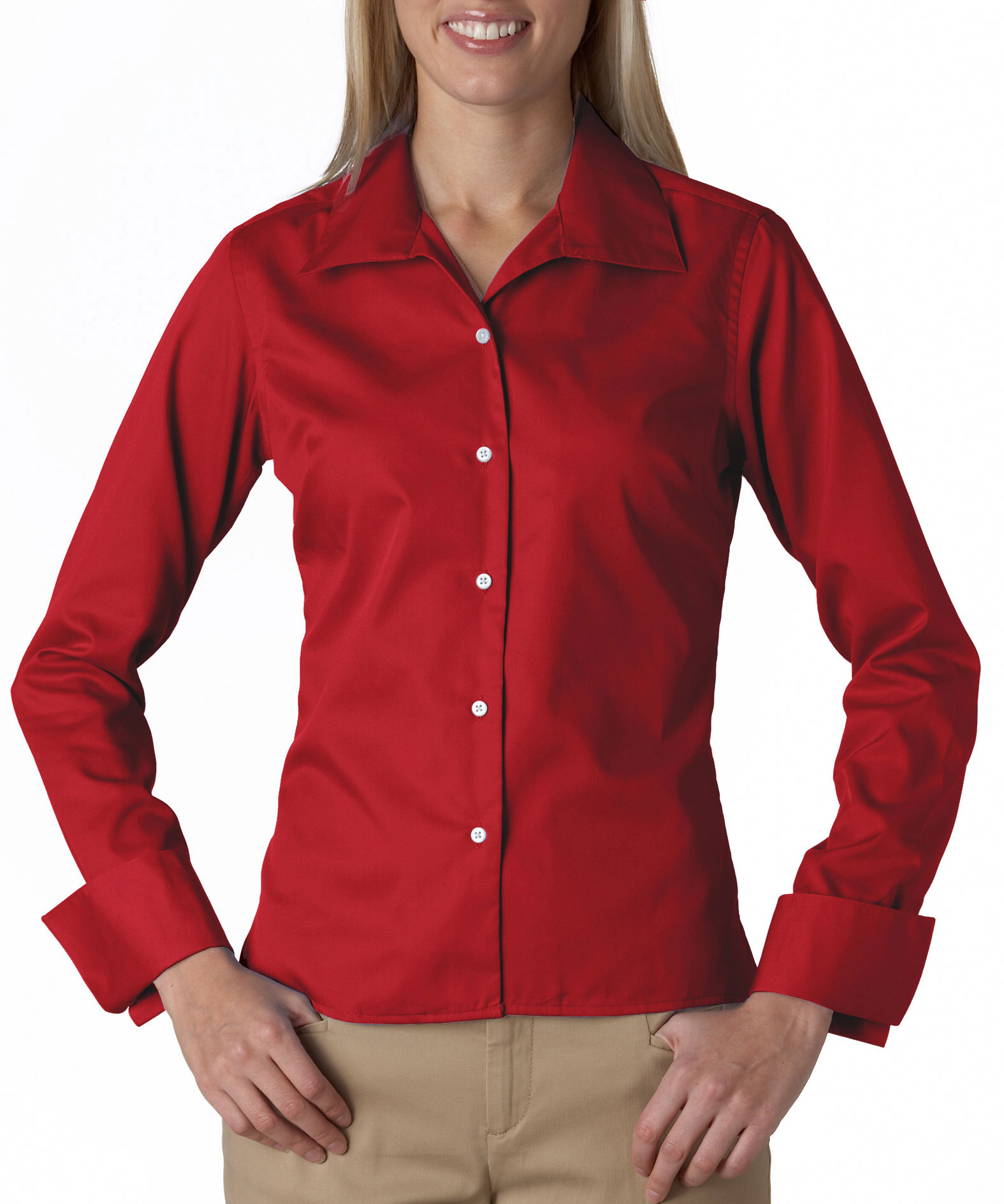 Ladies Stain Resitant Whisper Elite Twill Shirt