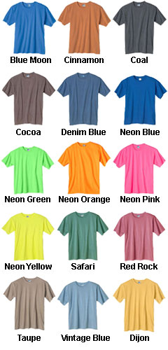 Anvil Pigment-Dyed TEAM Tshirt - All Colors