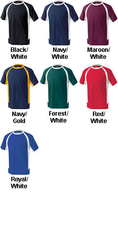 Mens Color Blocked Wicking Tee by Charles River Apparel - All Colors