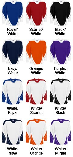 Custom Adult Breakaway Hockey Jersey With Incline Design - All Colors