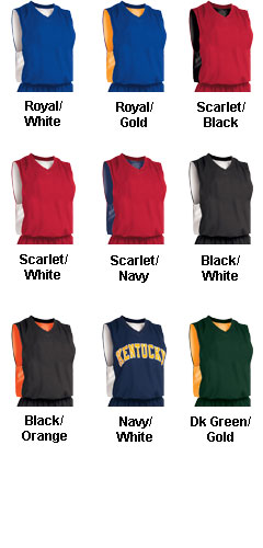 Youth Reversible Cool Mesh/Dazzle Basketball Jersey - All Colors