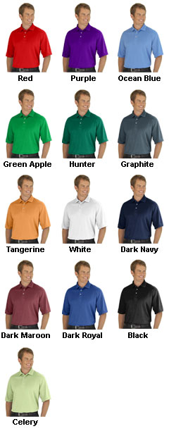 Mens Moisture Management Polo    - All Colors