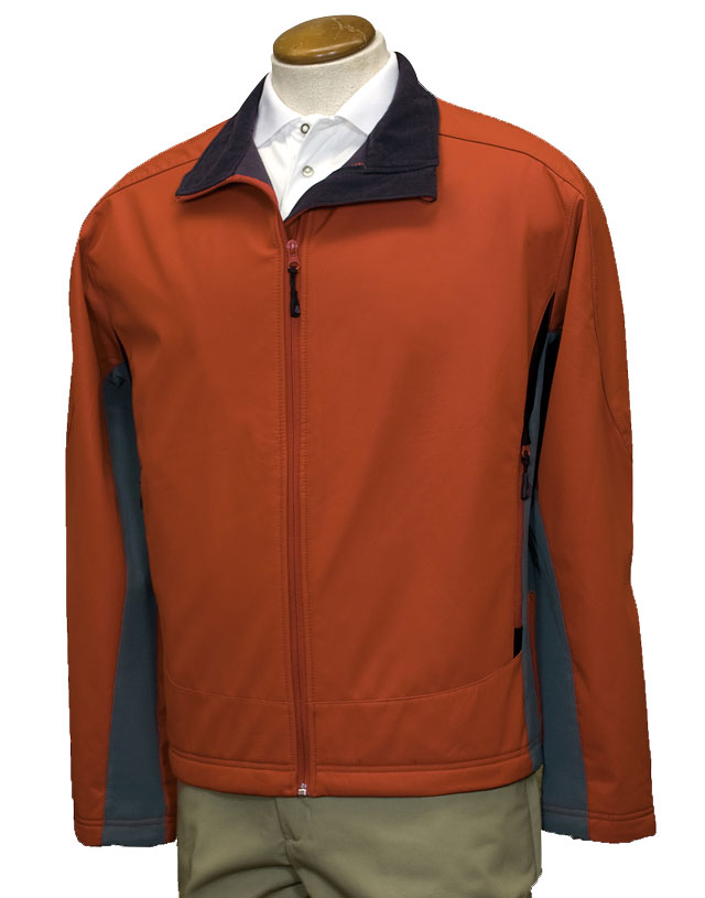 Mens Sport Active Soft-shell Color-Block Jacket