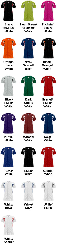 Custom Womens Changeup Full Button Softball Jersey - All Colors