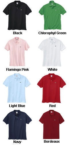 Lacoste Mens Classic Pique Short Sleeve Polo - All Colors