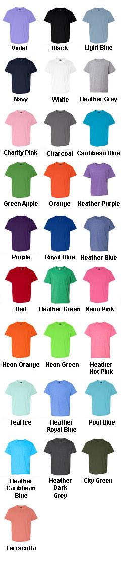 Anvil Youth 100% Ringspun Cotton Fashion Fit Tee - All Colors