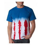 Adult Patriotic Flag Tie Dye Tee