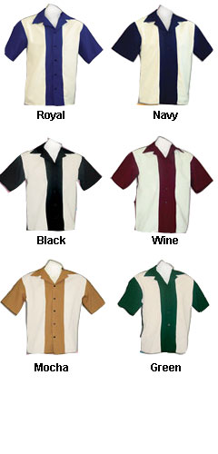 Adult  Rocabilly 80s Bowling Shirts - All Colors