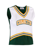 Custom Girls Scorpion Cheer Shell with 5 Stripe Trim