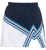 Ladies 2 Color A-Line Cheer Skirt With Trim