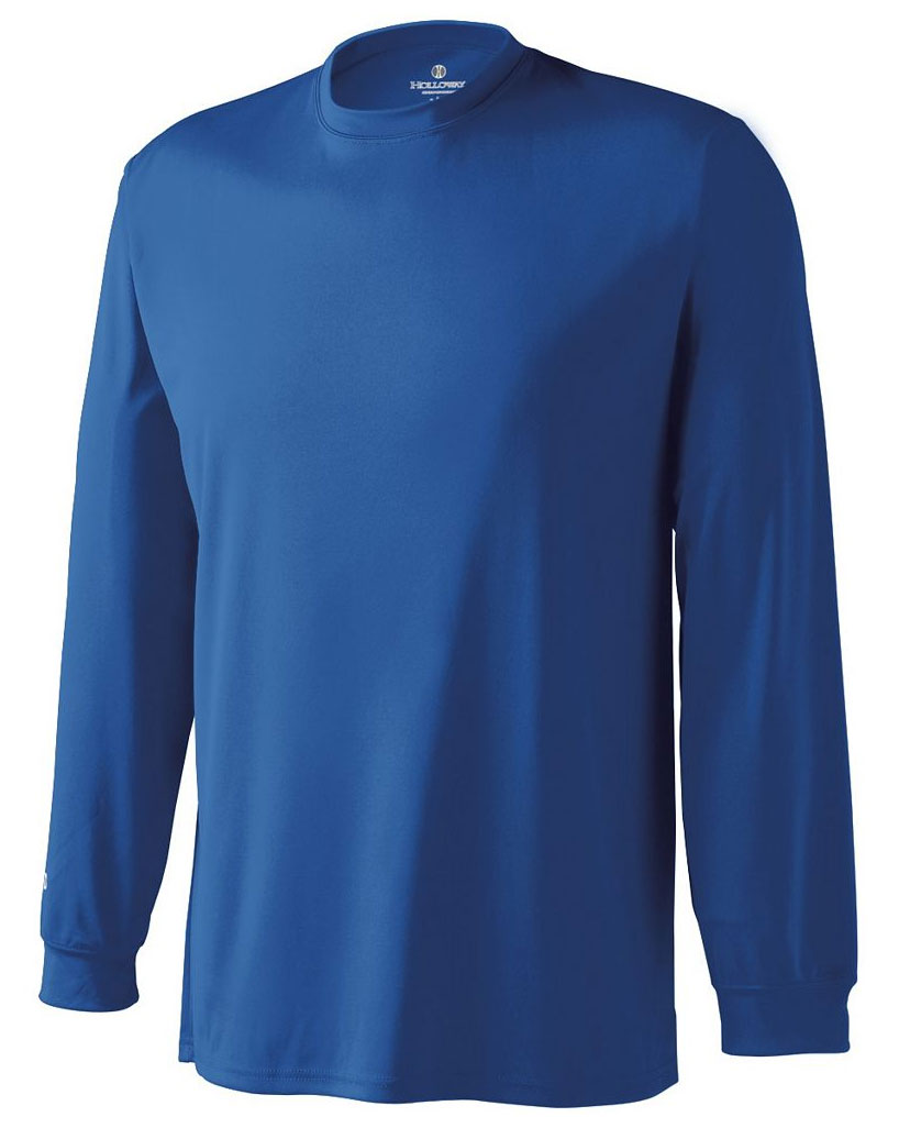 Adult Spark Long Sleeve Moisture Management Tshirt by Holloway