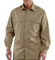Carhartt Mens Long-Sleeve Twill Work Shirt