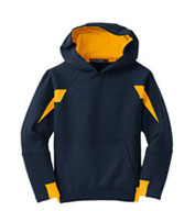 Custom Youth Sport-Tek® - Color-Spliced Pullover Hooded Sweatshirt