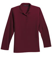 Ladies Long Sleeve Silk Touch™ Sport Shirt