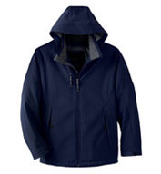 Mens Insulated Soft Shell Jacket With Detachable Hood