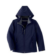 Custom Youth Insulated Soft Shell Jacket With Detachable Hood