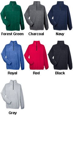 UltraClub Unisex Iceberg Fleece 1/4 Zip Pullover - All Colors