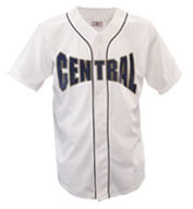 Adult Warning Track Piped Full Button Jersey