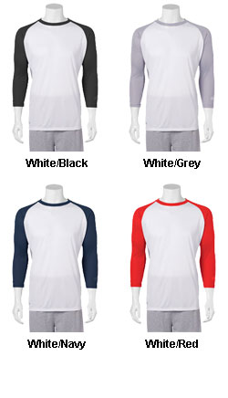 Rawlings® Wicking Raglan 3/4 Sleeve Baseball Tee - All Colors