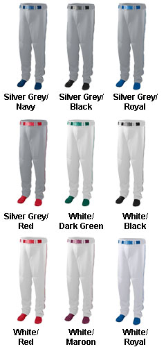 Youth 11 oz. Baseball/Softball Pant With Piping - All Colors