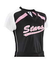 Custom Girls Performance Contoured Raglan Sleeve Jersey by Russell Athletic