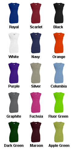 Girls On Deck Sleeveless Faux Full Button Down Jersey - All Colors