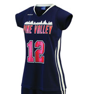Custom Ladies Anthem Cap Sleeve Lacrosse Game Jersey
