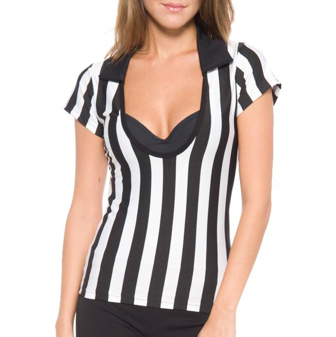 Juniors Deep Scoop Referee Shirt