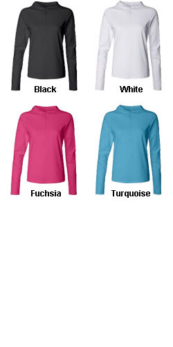 Bella - Ladies Cotton/Spandex � Zip Hooded Pullover - All Colors