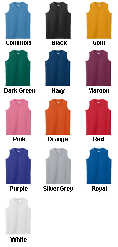 Ladies Wicking Mesh Sleeveless Jersey - All Colors