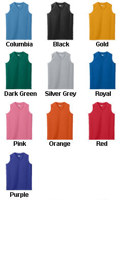 Girls Wicking Mesh Sleeveless Jersey - All Colors