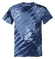 Custom Adult Tiger Stripe Tie Dye Tee
