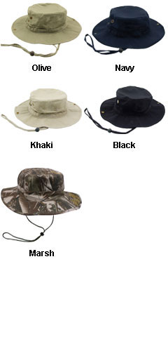 Safari Hat With Drawstring Cord Locks - All Colors