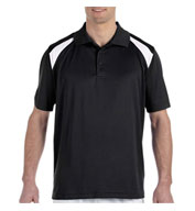 Custom Mens 4 oz. Polytech Colorblock Polo