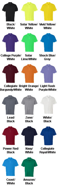 Adidas Golf Mens ClimaLite� 3-Stripes Cuff Polo - All Colors