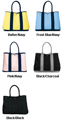 Canvas Tote with Contrast Handles - All Colors
