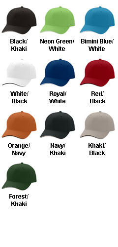 Adams 6-Panel Structured Moisture Management Cap - All Colors