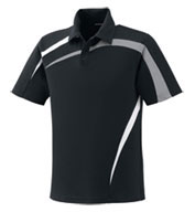 Custom Mens Performance Polyester Pique Color-Block Polo Mens