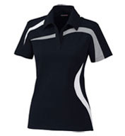 Custom Ladies Performance Polyester Pique Color-Blocked Polo