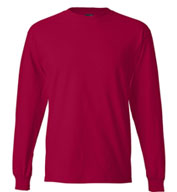 Custom Hanes Beefy Long Sleeve T-Shirt Mens