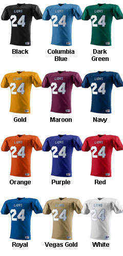 Youth Intimidator Football Jersey - All Colors