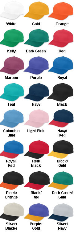 Adult Cotton Twill Low-Profile Cap with Snap Back Closure - All Colors