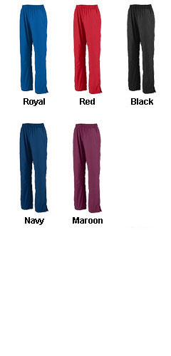 Ladies Zip Bottom Warm Up Pants - All Colors