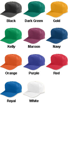 Adult Five-Panel Cotton Twill Cap With Snap Back - All Colors