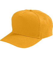 Adult Five-Panel Cotton Twill Cap With Snap Back