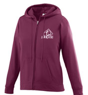Custom Ladies Wicking Fleece Full Zip Hooded Sweatshirt
