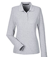 Custom Devon & Jones Ladies Pima Piqué Long-Sleeve Polo